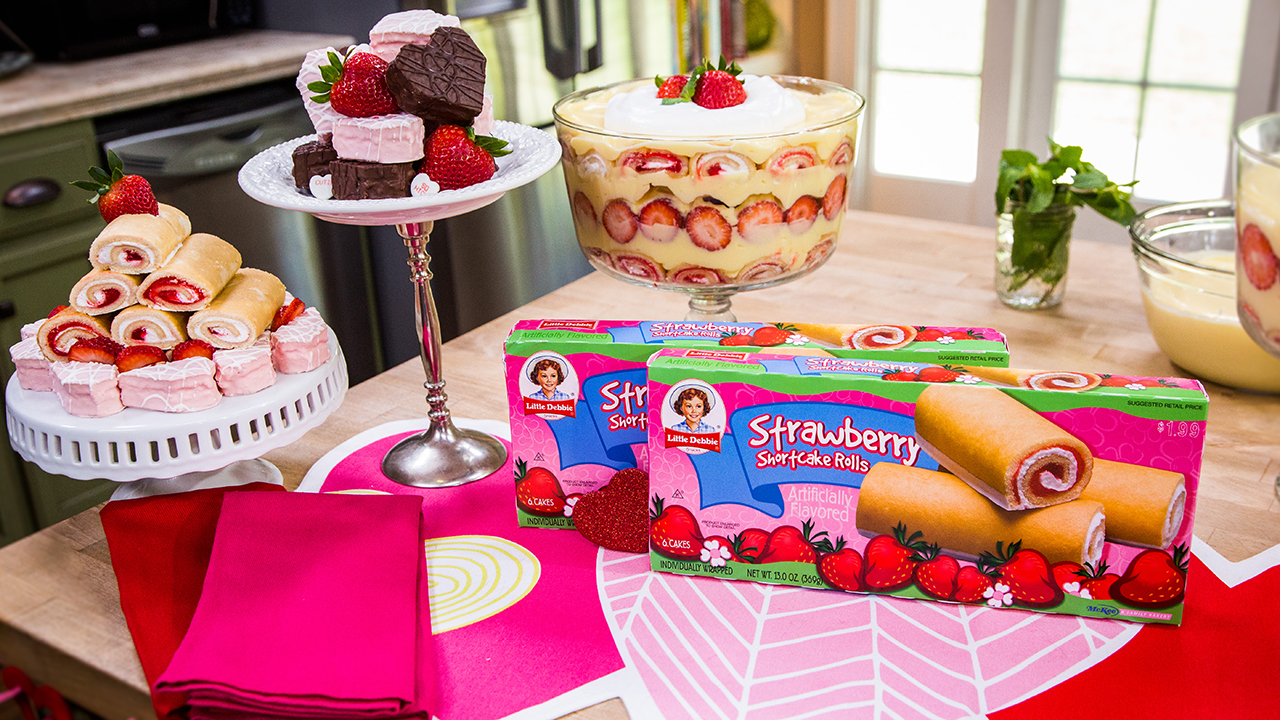 How to Make Strawberry Shortcake Roll Trifle
