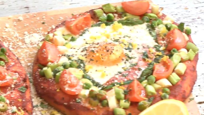 Spring Naan Bread Pizzas Recipe