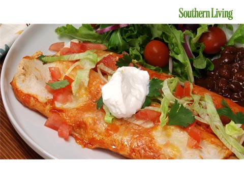 How to Make Chicken and Green Chile Enchiladas