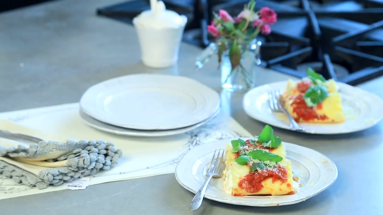 Lemon Basil Ricotta Lasagna Rolls Recipe