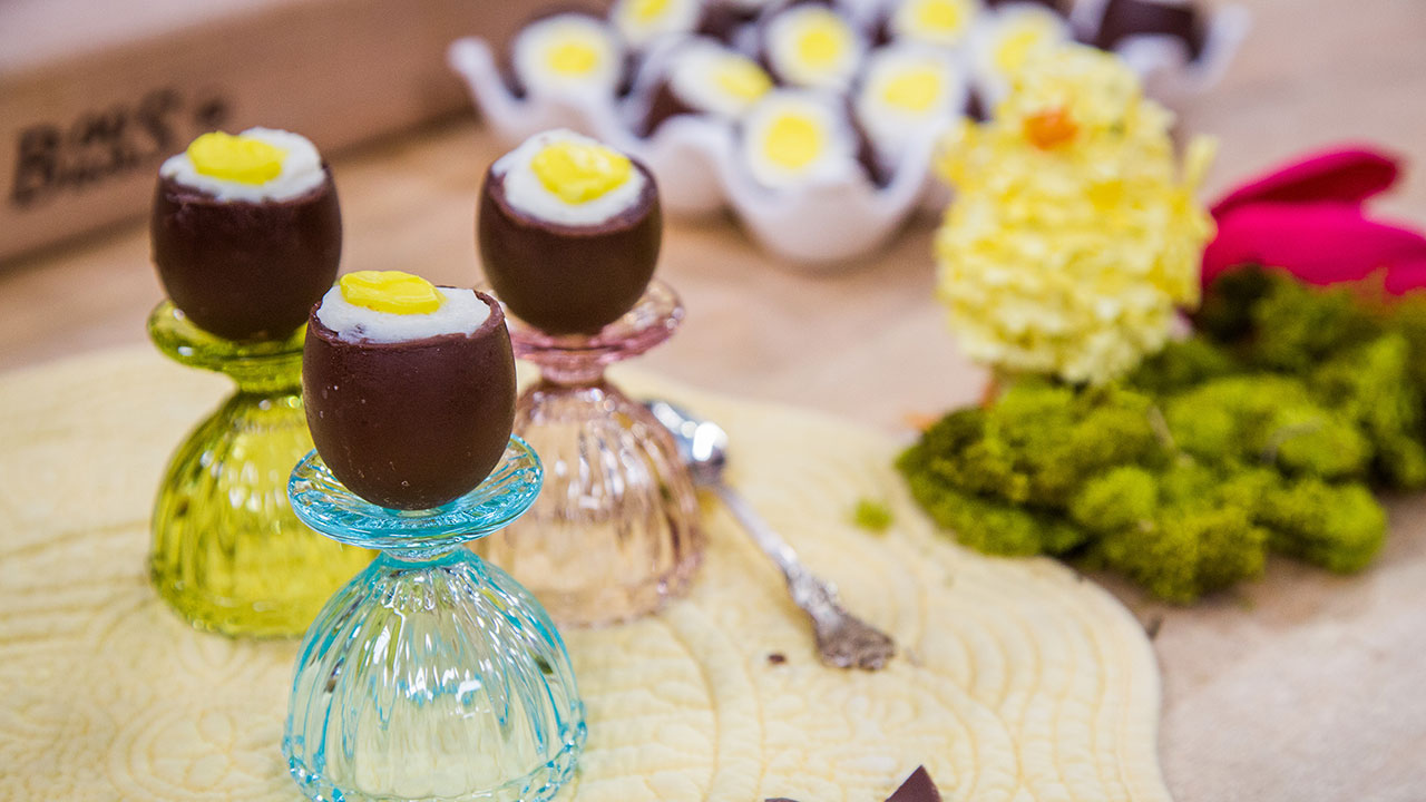 How to Make Homemade Cadbury Eggs with Cheesecake Filling