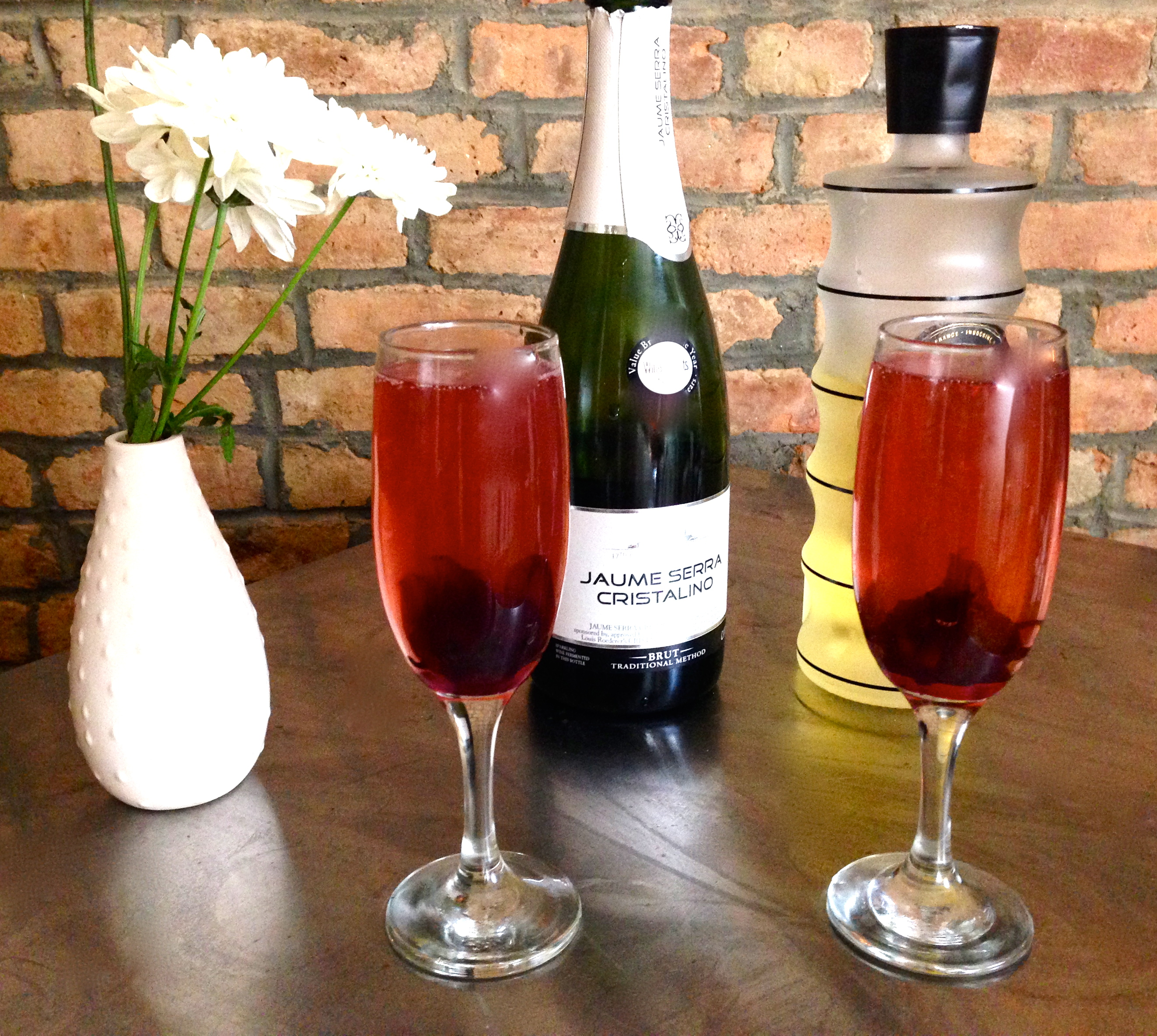 Hibiscus and Champagne Engagement Party Cocktail Recipe