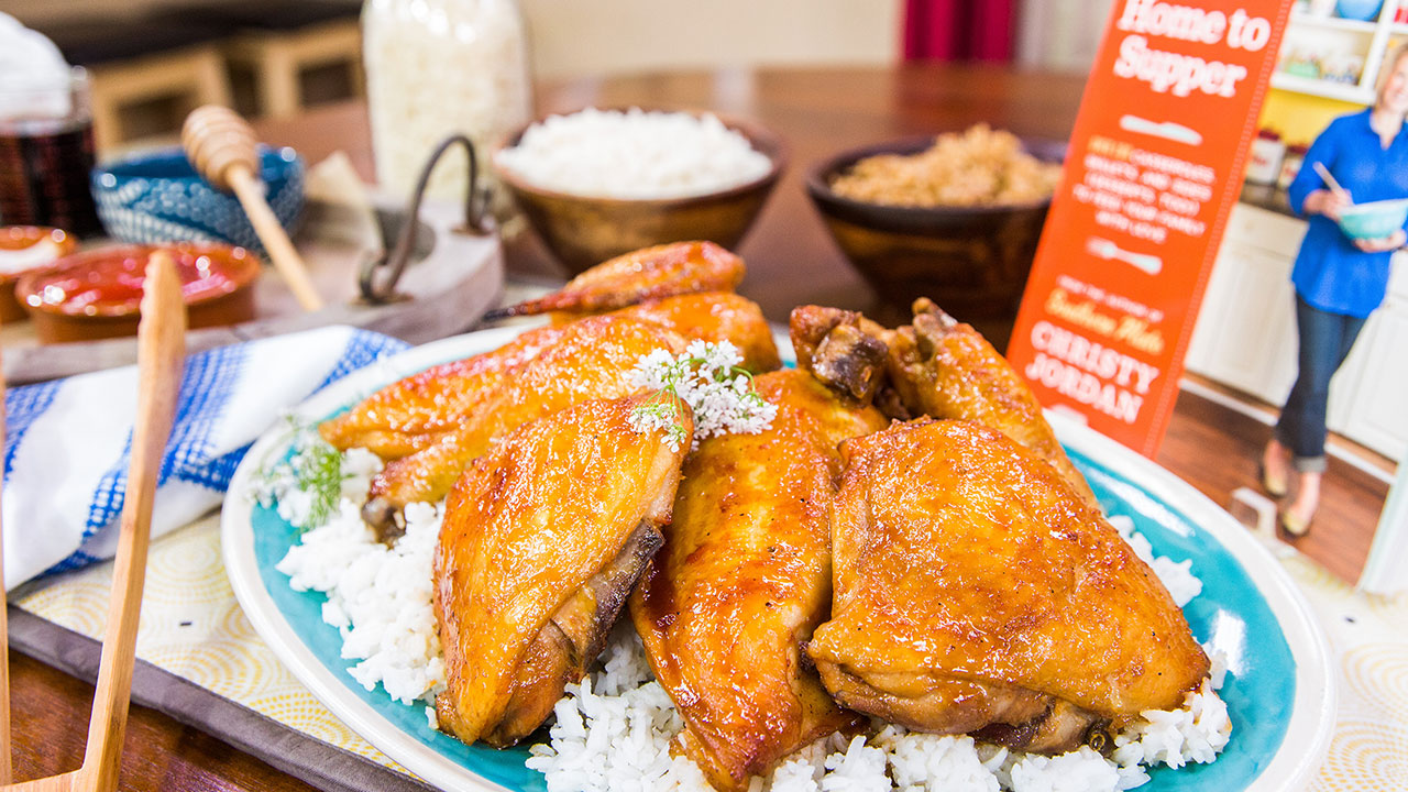 Cook smart sticky chicken recipe with cookbook author for Jordan s fish and chicken