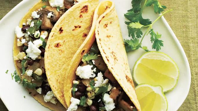 How to Make Mushroom, Corn, and Poblano Tacos