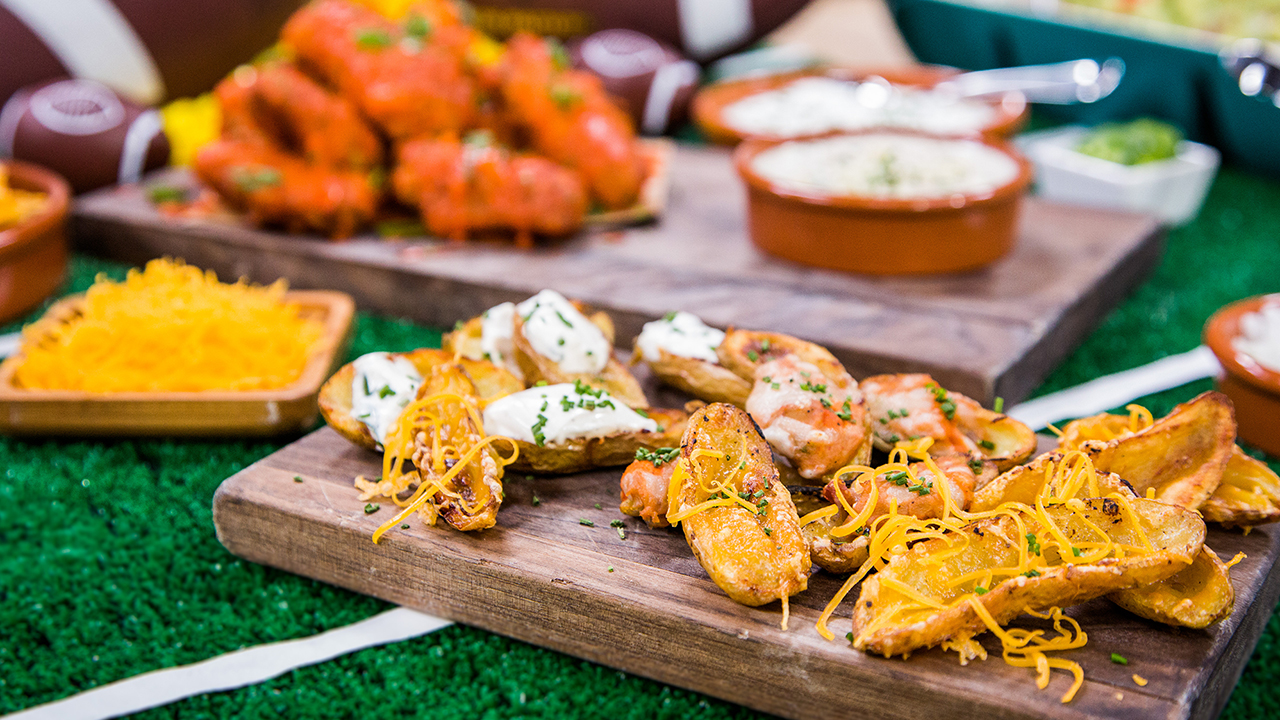 How to Make Fingerling Potato Skins and Chicken Wings