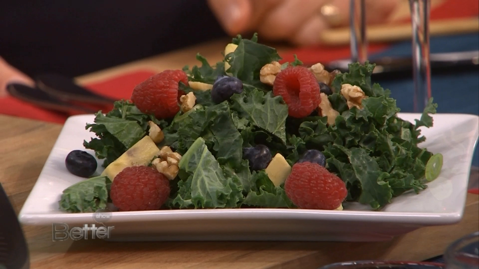 Raspberry and Blueberry Kale Salad Recipe