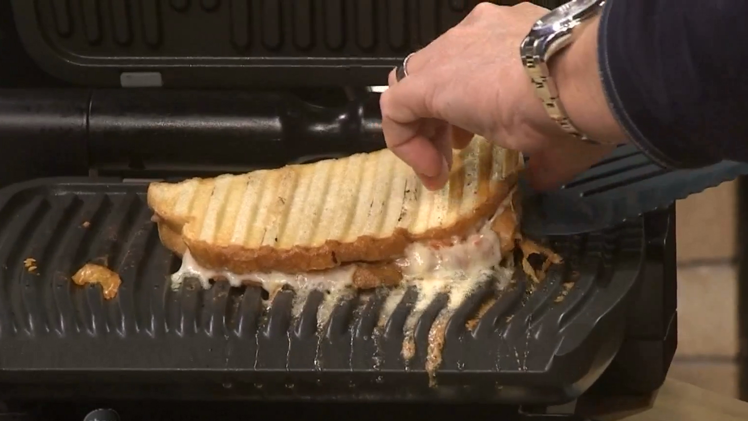 Chef Tim Love Makes a Creative Grilled Ham, Cheese and Tomato Sandwich
