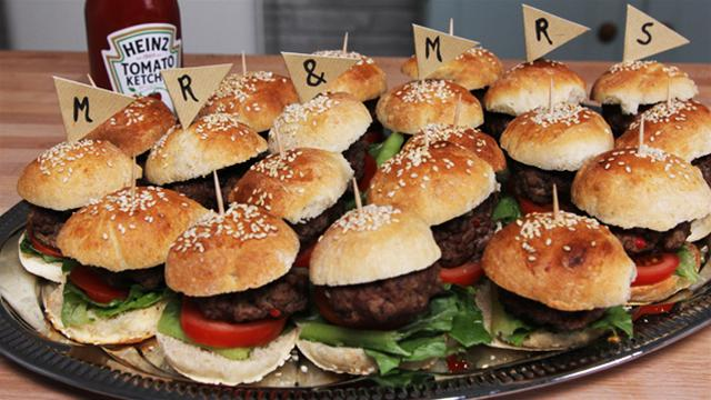 How to Make Mini Gourmet Burgers for Your Wedding Reception