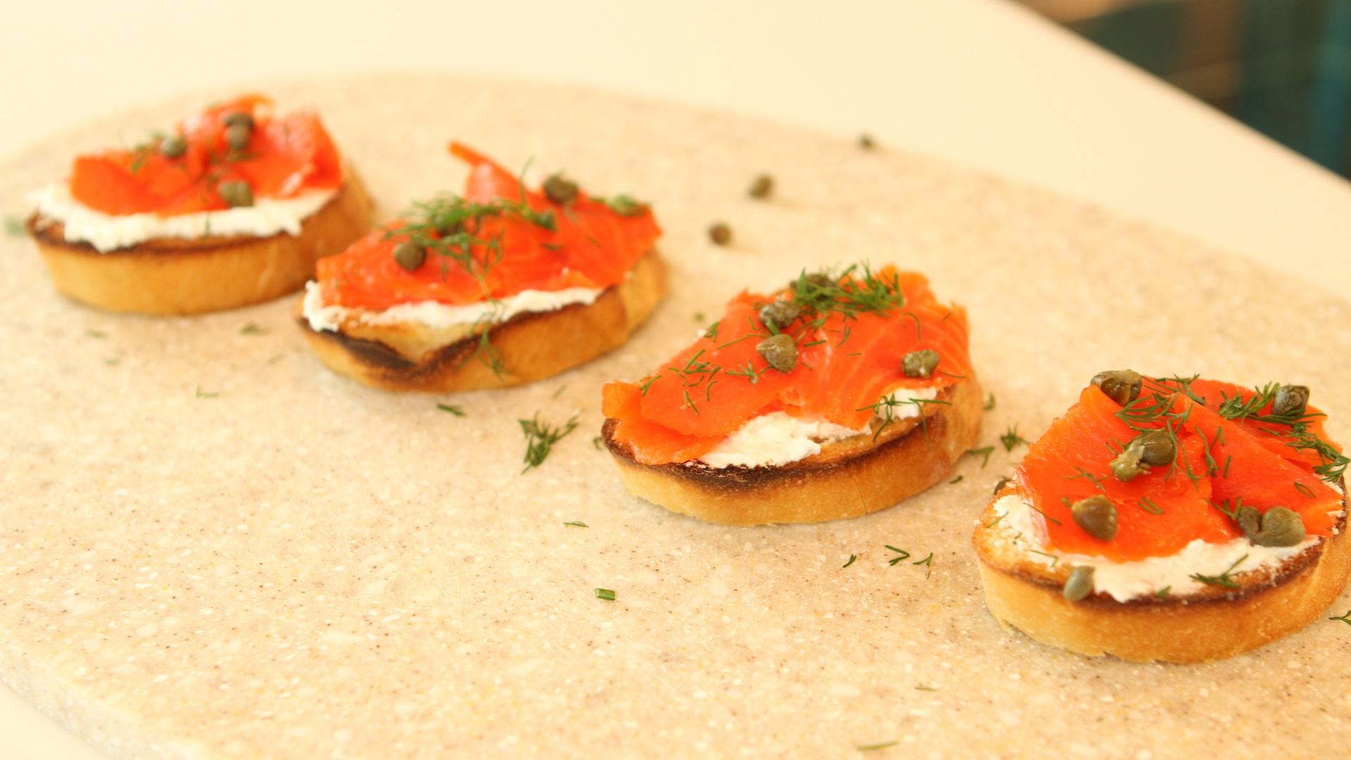 Make Smoked Salmon Toast with Herbs