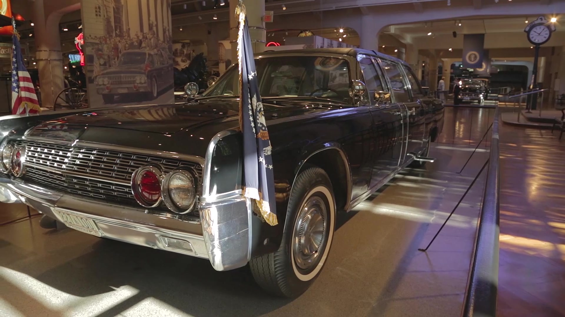 50 Years After Jfk Assassination His Limo Tells A Story Autoblog Murdered Out 1955 Cadillac