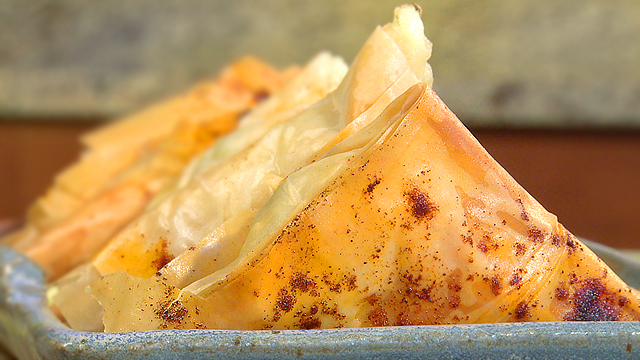 How to Make Cheese and Herb Filled Phyllo Triangles