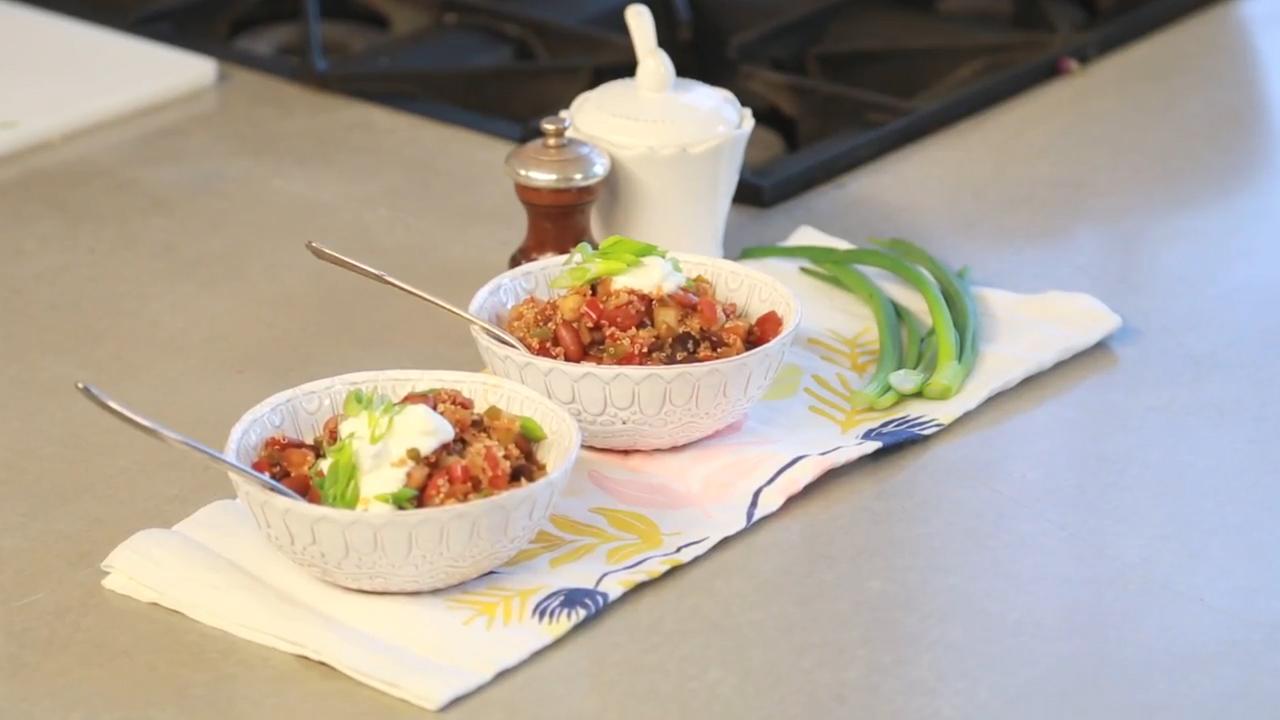 A Healthy Vegetarian Chili Recipe