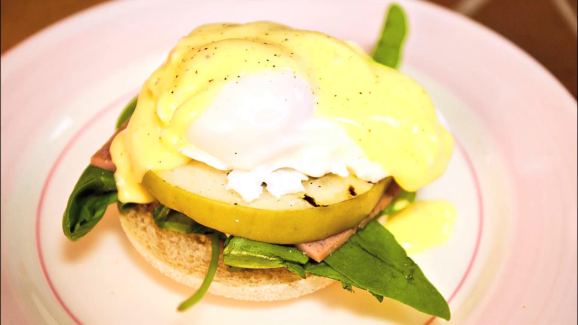Apple and Ham Eggs Benedict Recipe