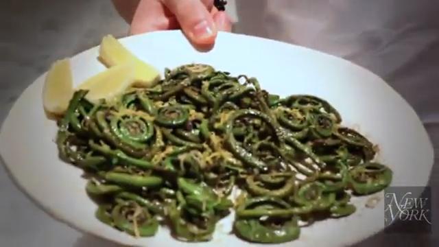 Roasted Fiddlehead Ferns Recipe