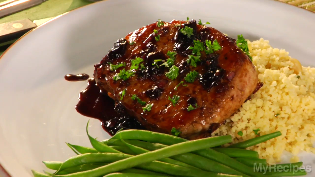 How to Cook Balsamic-Plum Glazed Pork Chops