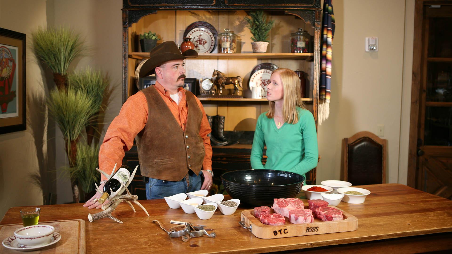 Making Steak Seasoning at a Texas Ranch Steakhouse