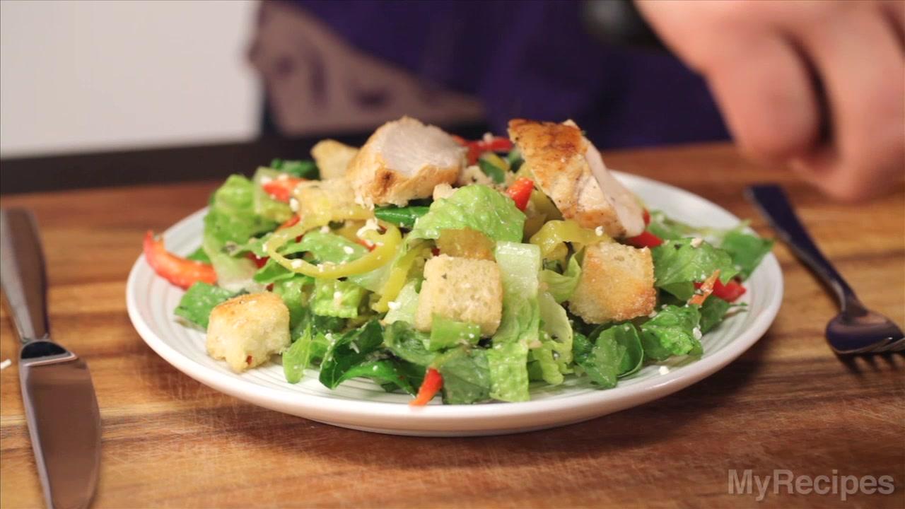 How to Make Greek Chicken Bread Salad