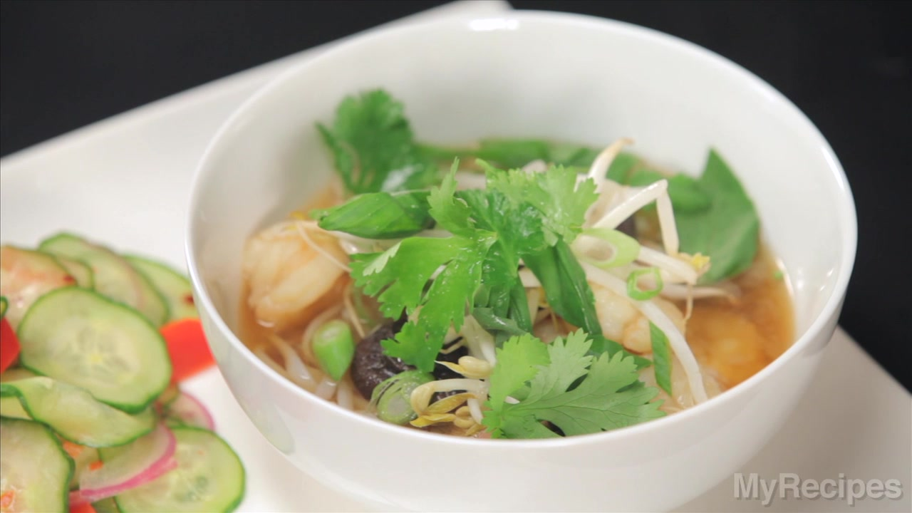 How to Make Spicy Shrimp Noodle Soup