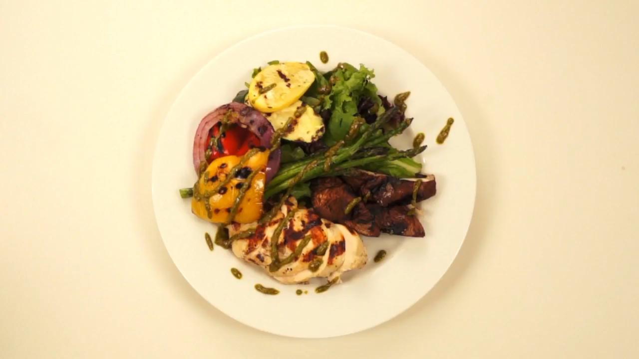 90 Second Grilled Chicken Salad Recipe