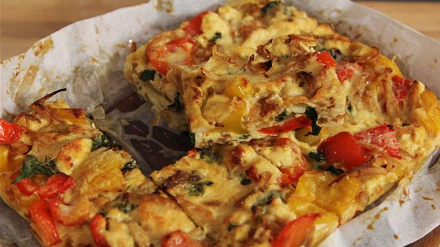How to Make a Red Pepper Frittata