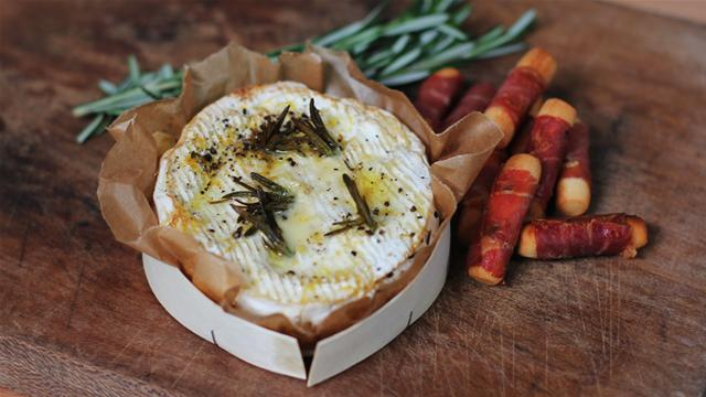 Winter Warmers: Baked Camembert With Parma Ham Breadsticks