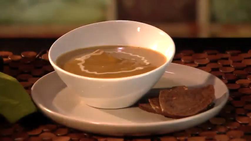 Spiced Butternut Squash and Chestnut Soup Recipe