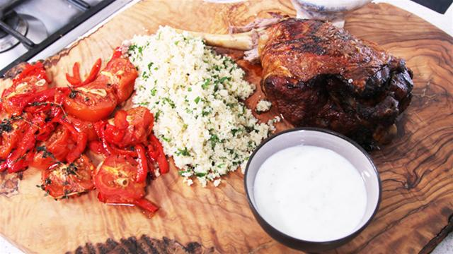 Dinner Delights: Roast Lamb With Moroccan Couscous