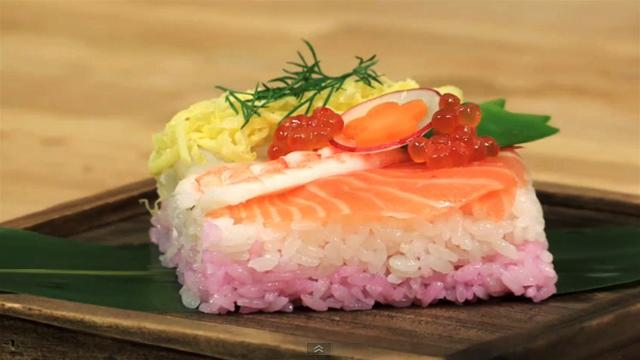 How to Make Salmon and Pink Rice Sushi