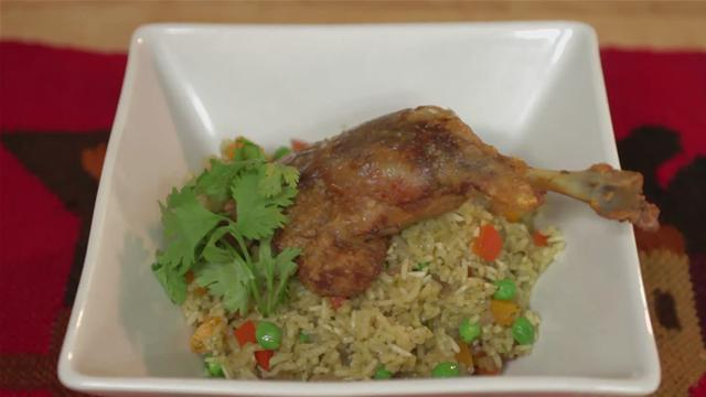 How to Make a Peruvian Duck and Rice Dish
