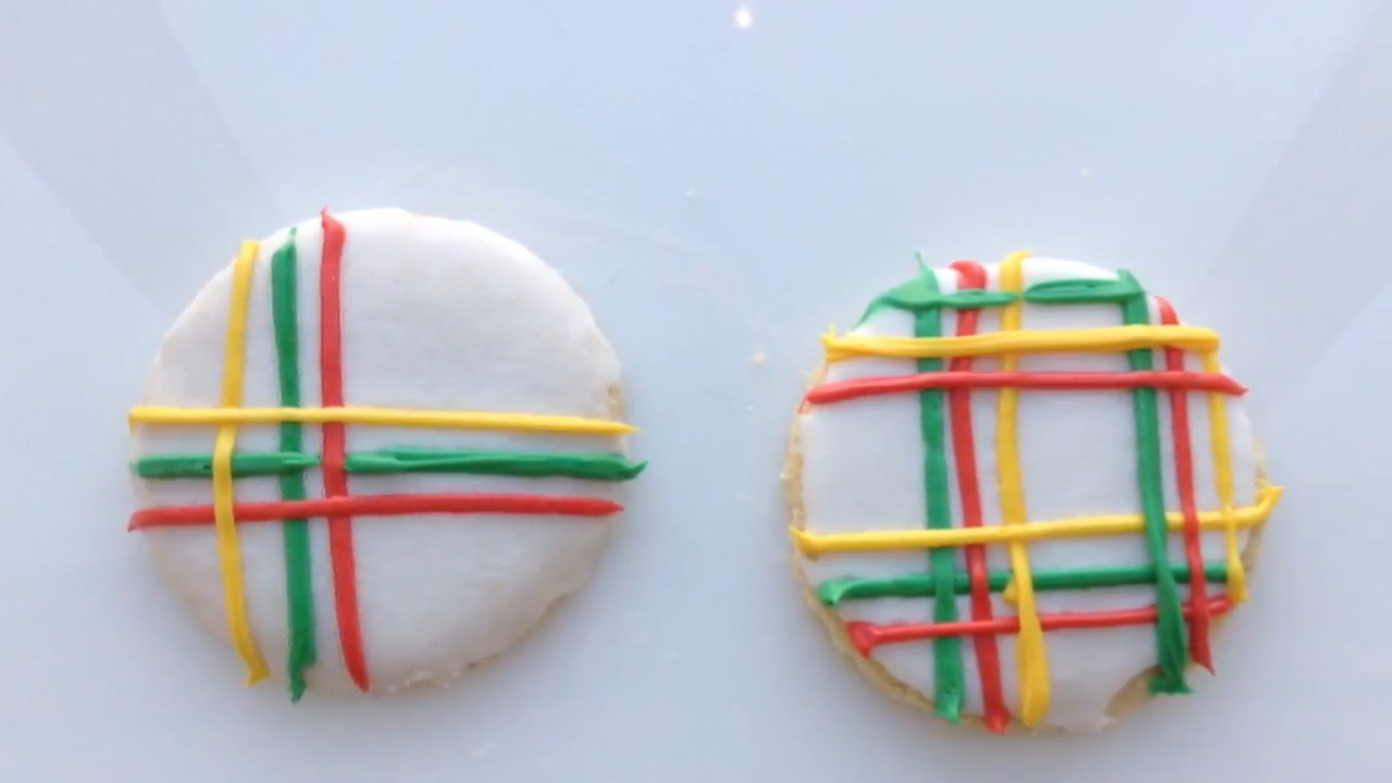 How to Make Preppy Plaid Holiday Cookies