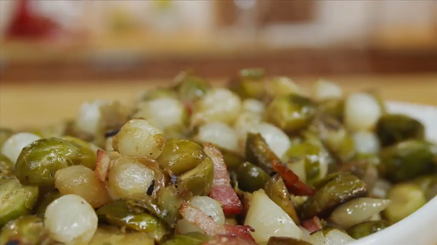 Brussels Sprouts With Bacon and Pearl Onions Recipe