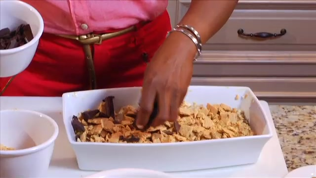 S'mores Bread Pudding by Chef Danielle Saunders