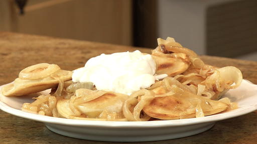 How to Make Pierogies with Butter and Onions