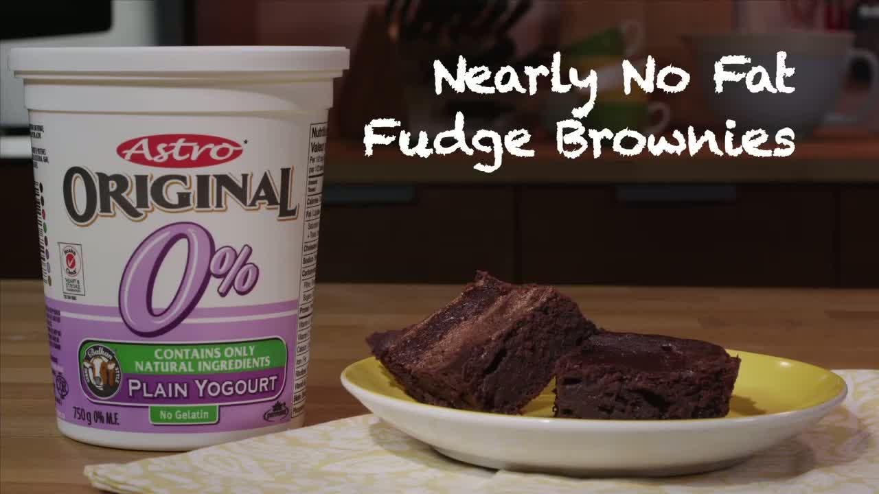 Nearly No Fat Fudge Brownies Recipe