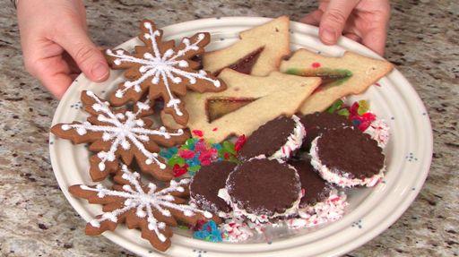 Colorful Christmas Tree Cookies