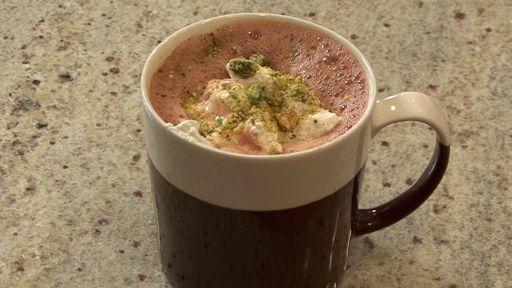 Lavender Pistachio Hot Chocolate
