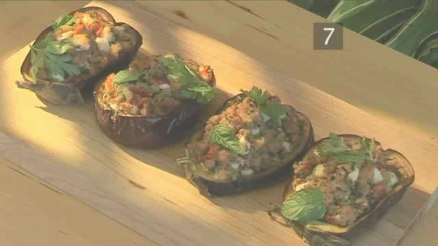 How to Cook Lamb and Feta Stuffed Aubergines
