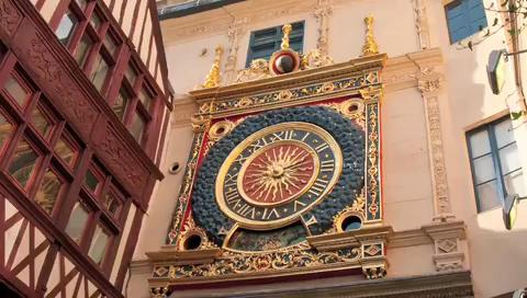Visit the Great Clock of Rouen in France