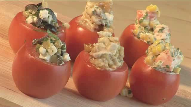 How to Cook Stuffed Tomato Canapes