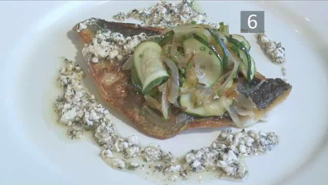 How to Cook Sea Beam with Feta Herb Sauce