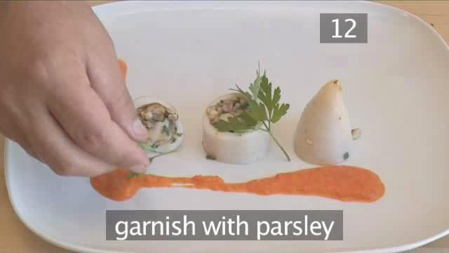 How to Mix Shrimp and Mushroom Stuffed Calamari