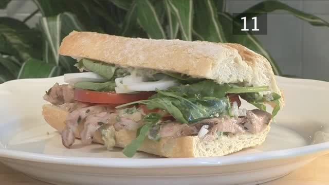 How to Roast Lamb and Roasted Garlic Mayonnaise Sandwich