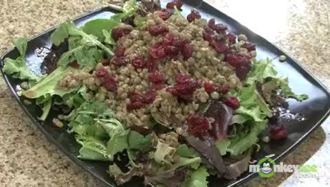 Cranberry, Lentil, and Mixed Green Salad Recipe