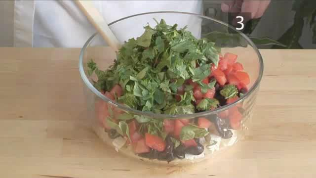 How to Prepare Cold Orzo, Herb and Olive Salad