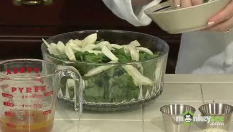 Asparagus, Spinach and Fennel Salad with Citrus Dressing