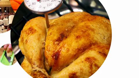 Kitchen Basics - How to Check a Roasted Chicken's Temperature