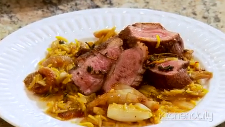 How to Make Honey Roasted Duck with Saffron Almond Rice
