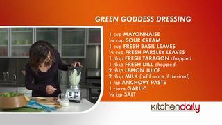 Shake It Up: Green Goddess Salad Dressing Recipe