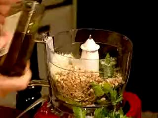 How to Make Grilled Turkey with Celery Walnut Pesto