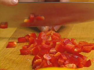 How to Dice Red Pepper